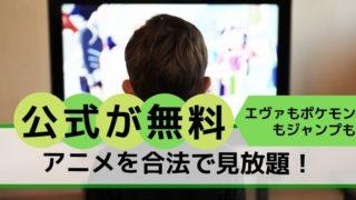 アニメ無料見放題公式エヴァポケモン